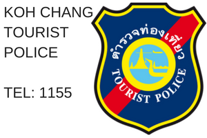 Koh Chang Tourist Police are ready to assist you. More details here.